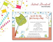 Fishing Invitation | Baby Shower | Printable Editable Digital PDF File | Instant Download | BSI199DIY