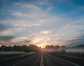 Sunrise on Crumlin Rd, Landscape Photograph