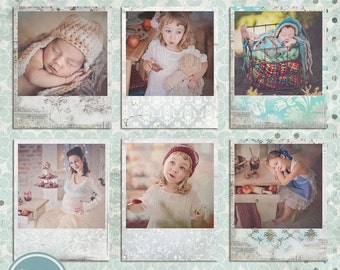 ON SALE Digital Frames, PSD Photo Frame  template, Polaroid Photo Frames - Instant Download