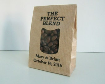THE PERFECT BLEND-Rustic Wedding Favor Bags-Wedding Favors-Kraft Favor Bags-Coffee Wedding Favors-Rustic Wedding Idea-Wedding Decor-Weddings