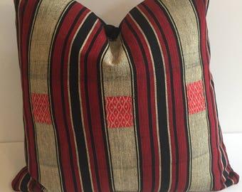 Naga ethnic tribal pillow cover