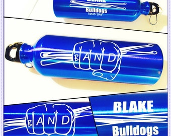 Personalized Team Band Sports Soccer Water Bottle