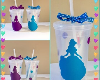 Beauty and the Beast Belle Disney Tumbler Water Bottle Cup Plastic