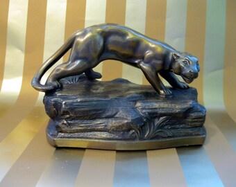 Bronze Lion Bookend, K&O, Kronheim and Oldenbusch Co., 1932