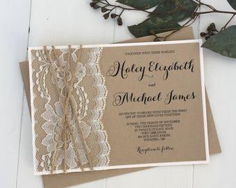 elegant wedding invitations | etsy, Wedding invitations