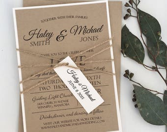 Rustic Wedding Invitation, Modern Rustic Wedding Invitation, Shabby Chic Wedding Invitation,Vintage wedding Invitation