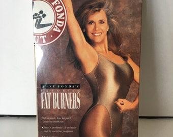 Jane Fonda Fat Burner Workout VHS Vintage Exercise