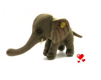 Steiff Elephant Trampy 0510/17 Vintage with all Ids