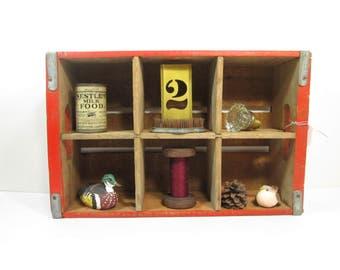 Vintage Coca Cola Wooden Crate, Six Slot Coke Crate