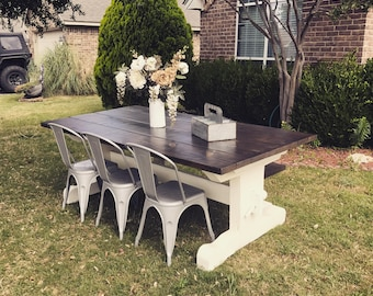 Pedestal Farmhouse table