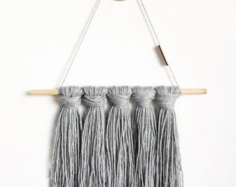 Space Grey Tapestry / Yarn Wall Hanging - Ready to Ship