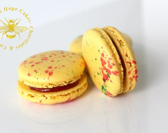 Guava Candy French Macarons