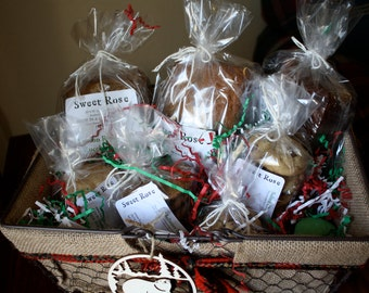 Christmas Gift Basket - Large, Edible Gift Basket, Baked Goods
