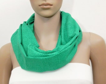 Green Scarf Green Infinity Scarf Cotton Scarf Fashion Scarves Scarf Shawl Cowl Scarf Tube Scarf Summer Scarf Gift for her Handmade Scarf