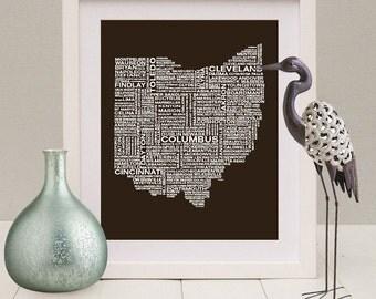 Ohio Wall Art ohio art | etsy