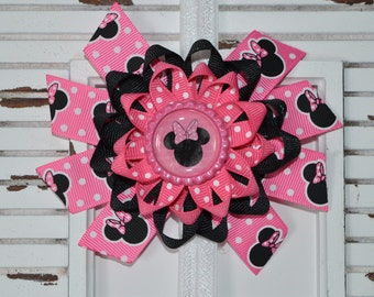 Pink Disney Minnie Mouse Bow