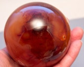 Carnelian Crystal Sphere Specimen 82.55mm 485g 3 1/4 inches Black Friday Sale!