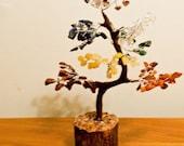 7 Chakra Crysal Tree Chakra Healing 9 inches high!