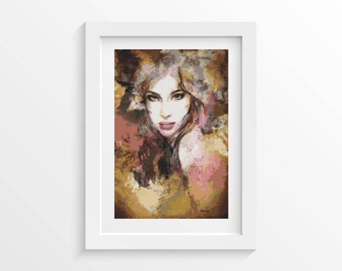 Cross Stitch Pattern PDF, Embroidery Chart, Art Cross Stitch, Woman Cross Stitch, Passion (ART029)