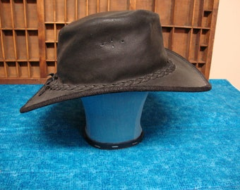 Vintage Leather Hat by BC Hats Of Australia
