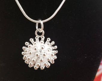 Starburst Sterling Silver layered necklace