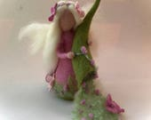 Spring Fairy.Waldorf. Hand-felted. Wet  felted Waldorf