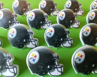 24 Pittsburgh Steelers NFL helmet cupcake rings picks cake toppers football fan birthday tailgate party sports super bowl bachelor grooms ne