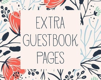Extra Guestbook Pages