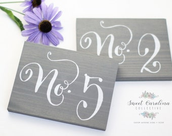 Wedding Table Numbers, Table Number Wedding, Rustic Table Number - Single Wedding Table Number - TB-6