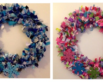 Handmade Winter Ribbon Wreath