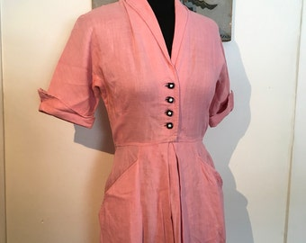 1940s 1950s Cotton Candy Day Dress