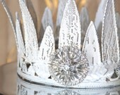 Metal crown, crown decor, crown cake topper, gifts for her, wedding crown, distressed crown, wedding cake topper, french crown, white crown