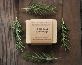 Patchouli Rosemary Goat Milk Soap