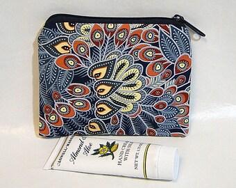 Coin Purse, Blue, Make Up Bag, Thai Batik, Change Purse, Zipped Bag, Coin Pouch