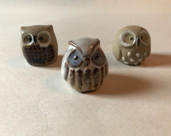 Vintage Danish Modern Art Pottery Owl