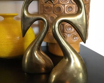 Vintage Mid Century Modern Brass sculpture bookends