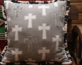 Western cross Decorative pillow