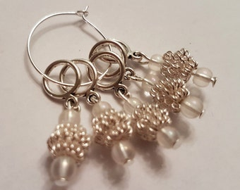 Metal coil stitch markers