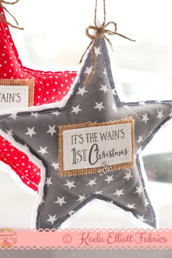 Baby 39 s first christmas star decoration irish gift by for Babys first christmas decoration