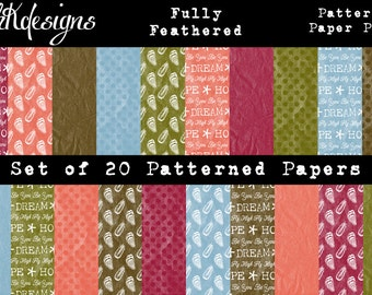 Fully Feathered Digital Paper Pack