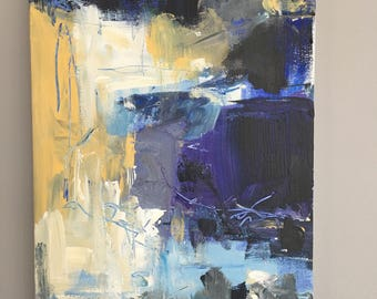 Abstract 1 Blues - Original Painting