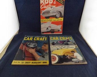 Three Car Craft Magazines and Rod Custom