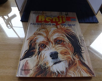 Large Golden Book Benji Fastest Dog in the West
