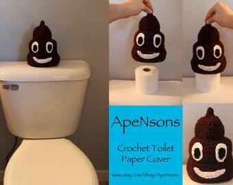 Crochet Poop Emoji Toilet Paper Cover Decoration