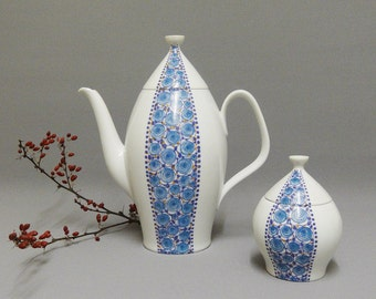 Rare Melitta teapot & sugar bowl 60s J.