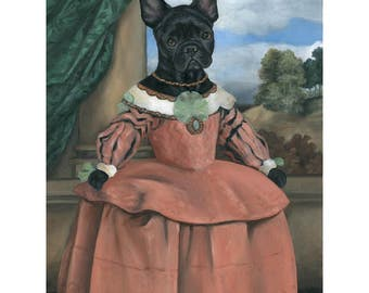 French Bulldog, Canvas Print, Francesca, Frenchie, Dog Gifts for Women