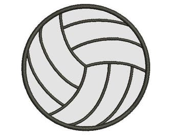 volleyball applique embroidery design