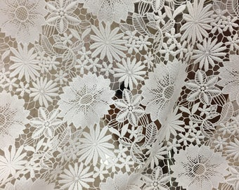 off white lace fabric, embroidery venise lace fabric, haute couture lace 2016 new arrival , hot selling lace