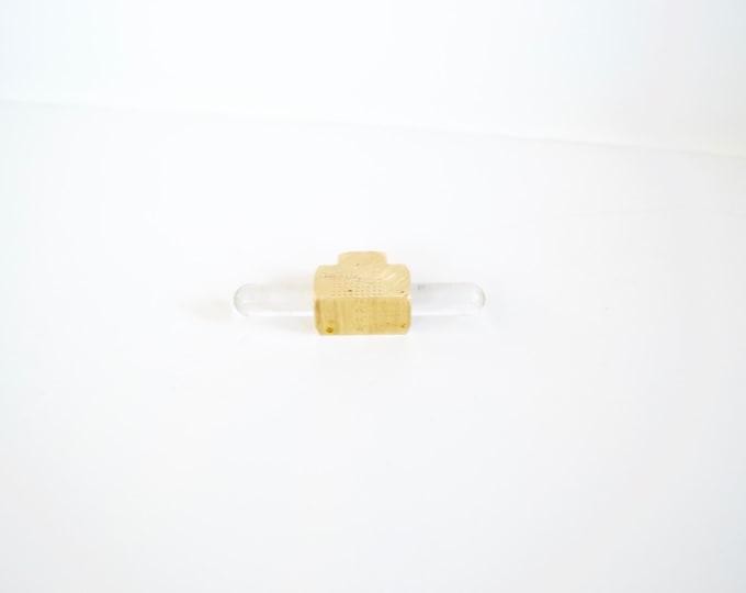 Acrylic Drawer Handles, Drawer Knobs: Polished Brass Ends, SKU26250