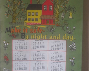 Wall Hanging 1988 Show Calendar.  Never Used.